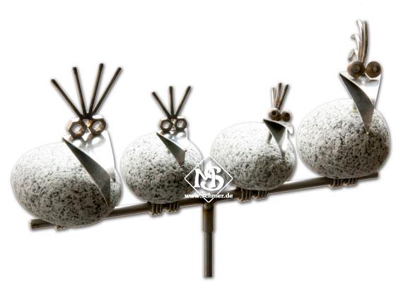 Steinvogel gartenstecker sv480 f r garten und wohnung ebay for Metallfiguren garten